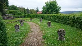 soldier cemetery in stuppach, germany Royalty Free Stock Photos