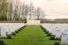 Soldier Cemetery world war one flanders Belgium Royalty Free Stock Photos