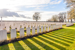 Soldier Cemetery world war one flanders Belgium Stock Image