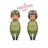Soldier -. Soldier. character design -  illustration Stock Photo