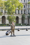 Soldier on a check-post of Hungarian Parliament building, Budapest Royalty Free Stock Images