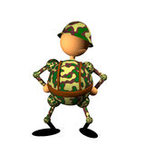 Soldier clipart royalty free stock photo