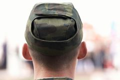 Soldier in close up Stock Photo