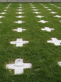 Soldier Cross Grave. Crosses at the National Memorial at Fort Indiantown Gap National Cemetery Stock Photo