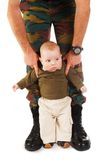 Soldier daddy Royalty Free Stock Image