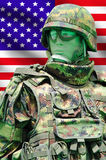 Soldier with digital camouflage uniform Royalty Free Stock Photos
