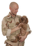 Soldier and dog Royalty Free Stock Photos
