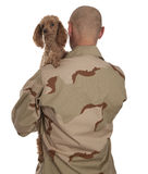 Soldier and dog Royalty Free Stock Images