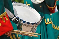 Soldier with a drum Royalty Free Stock Photography