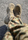Soldier Feet in Rest Position! Royalty Free Stock Photos