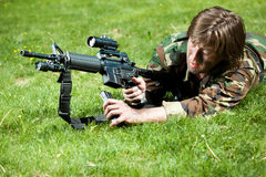 Soldier in the field Stock Image