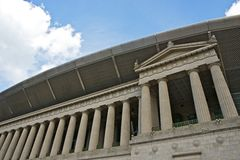Soldier Field Chicago. Chicago Soldier Field Building. Soldier Field is a Football Stadium in Chicago, IL, USA. The Field Serves as a Memorial to American Stock Photos