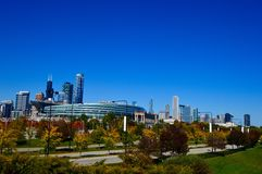 Soldier Field in the Fall Stock Images