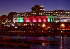 Soldier Field Lighted For the Holidays Stock Images