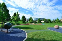 Soldier Field playground in Chicago. May be used for an editorial for children's playgrounds or for soldier field itself Royalty Free Stock Photography
