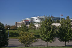 Soldier Field Stadium Chicago. Soldier Field Football Stadium Chicago in the summer royalty free stock photo
