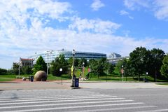 Soldier Field Stadium Chicago Stock Photo