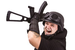 Soldier fighting royalty free stock images