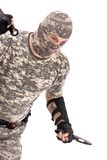 Soldier fighting Stock Images