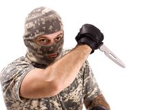 Soldier fighting Royalty Free Stock Photos