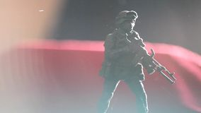 Soldier figure dust hd footage. Day light