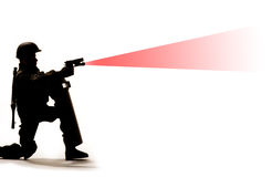 Soldier firing weapon Royalty Free Stock Photo