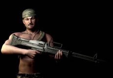Soldier of fortune from a video game Stock Photo