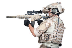Soldier full Armor shoot isolated Stock Photography