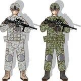 Soldier Full Gear. Illustration clip-art vector Stock Photography