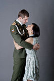 Soldier and girl Royalty Free Stock Photography