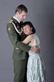 Soldier and girl Royalty Free Stock Images