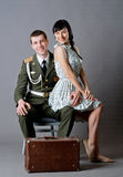 Soldier and girl Stock Photo