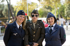 Soldier girls Royalty Free Stock Photo