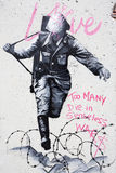 Soldier Graffiti Berlin Royalty Free Stock Image