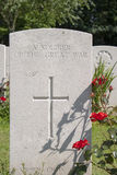 A soldier of the great war WW1 cemetery Stock Images