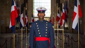 Soldier on guard in Santo Domingo Royalty Free Stock Image