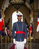 Soldier on guard in Santo Domingo Stock Image