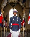 Soldier on guard in Santo Domingo Stock Image