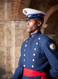 Soldier on guard in Santo Domingo Royalty Free Stock Photo