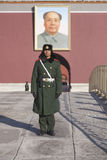 Soldier on guard at Tiananmen Square in Beijing Royalty Free Stock Photography