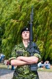 Soldier guarding Rosenborg Castle, Denmark Royalty Free Stock Photo