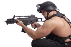 Soldier gun Stock Photography