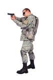 Soldier with gun Stock Photos