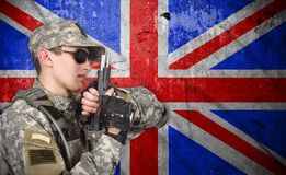 Soldier with gun Royalty Free Stock Image