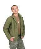 Soldier guy Stock Images