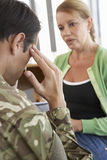 Soldier Having Counselling Session Royalty Free Stock Photography