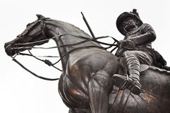 Soldier hero on horseback Royalty Free Stock Photography