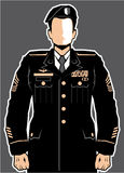 Soldier Hero vector Royalty Free Stock Photos
