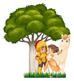A soldier and his lover Royalty Free Stock Photography