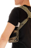 Soldier with holster and handgun. Royalty Free Stock Images